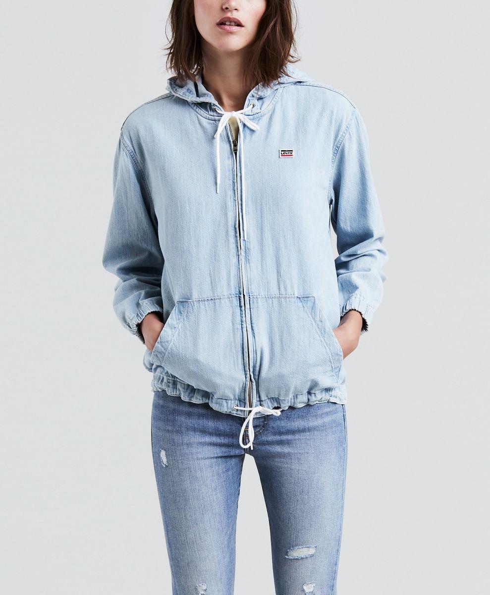 Толстовка женская Levi's®, цвет: голубой. 5234400000. Размер XS (42)