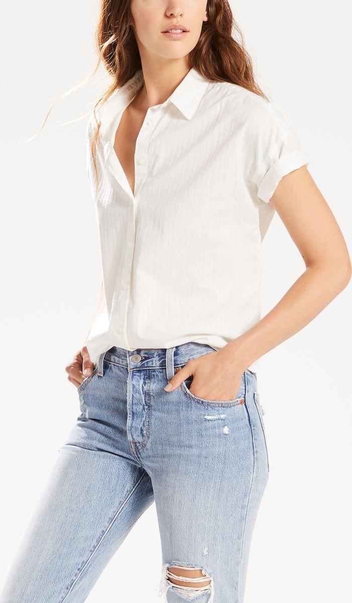 Рубашка женская Levi's®, цвет: белый. 3967600080. Размер XS (42)