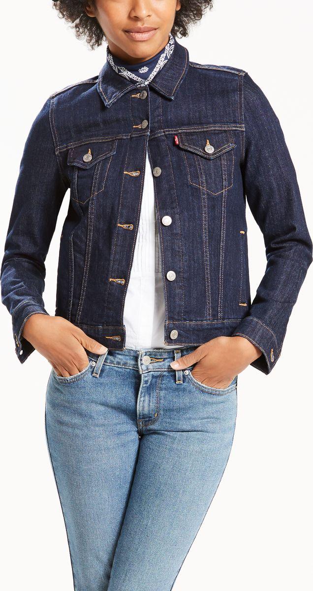Куртка женская Levis®, цвет: темно-синий. 2994500130. Размер XS (42)2994500130Куртка из денима прямого силуэта и идеальной длины. Универсальная классика дополнит любой образ. Модель спереди застегивается на пуговицы.