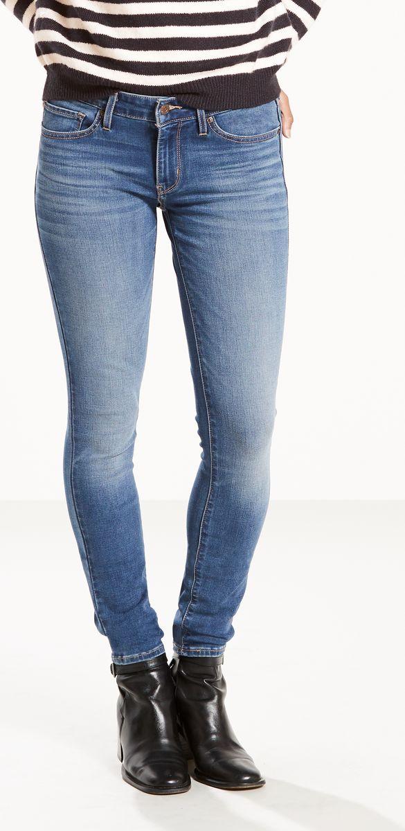 Джинсы женские Levis® 711 Skinny, цвет: синий. 1888102060. Размер 25-32 (40/42-32)1888102060Джинсы Levis в силуэте скинни выполнены из высококачественного материала. Стильные узкие джинсы превосходно облегают фигуру и создают шикарный силуэт. На поясе предусмотрены шлевки для ремня. Модель имеет классический пятикарманный крой: спереди - два втачных кармана и один маленький накладной, а сзади - два накладных кармана.