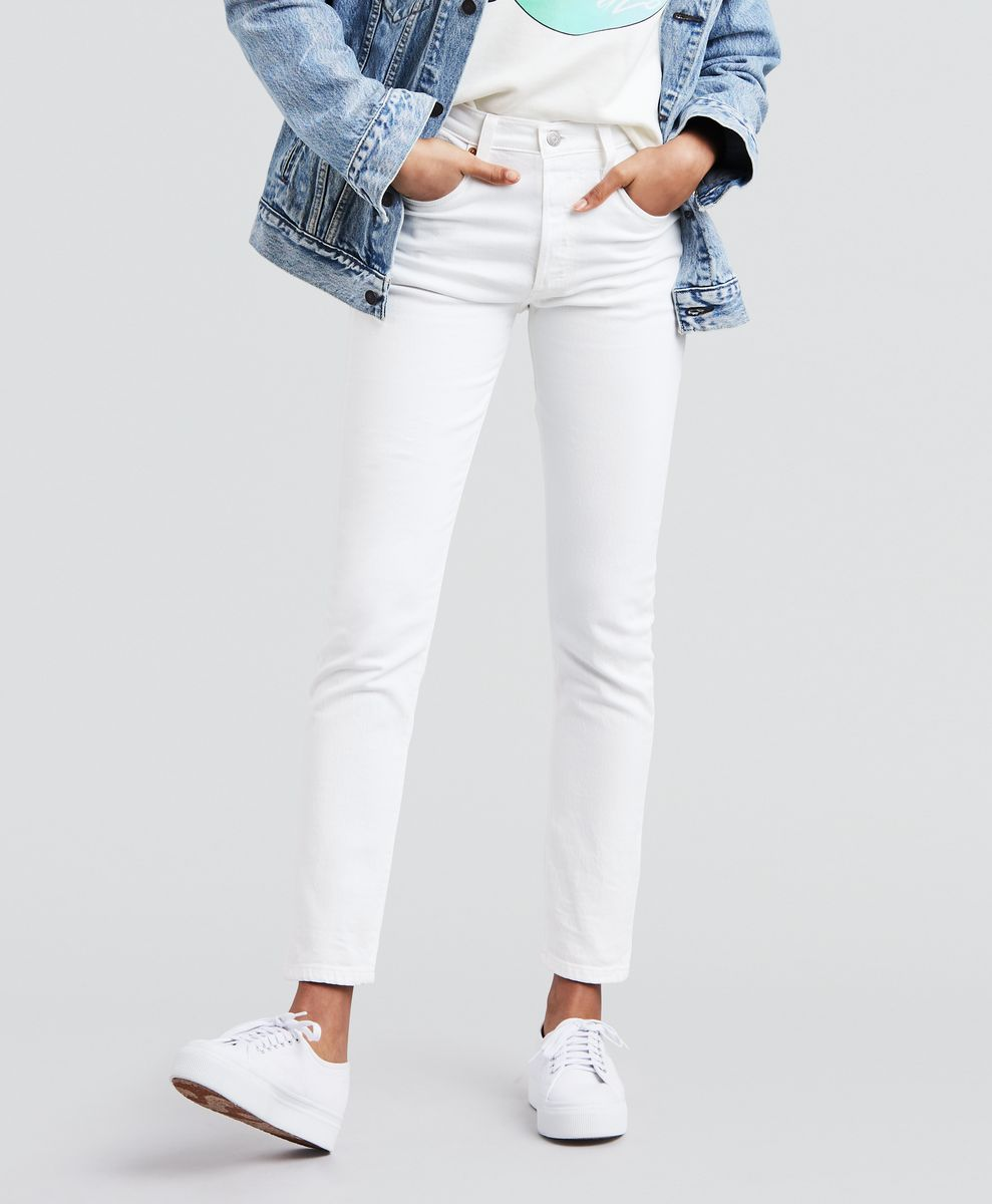 Купить Джинсы женские Levi's® 501 Skinny, цвет: белый. 2950200280. Размер 27-30 (42/44-30)