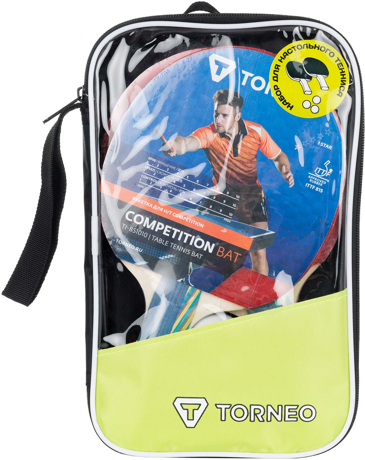 Набор для настольного тенниса Torneo, 6 предметов. TI-BS1010