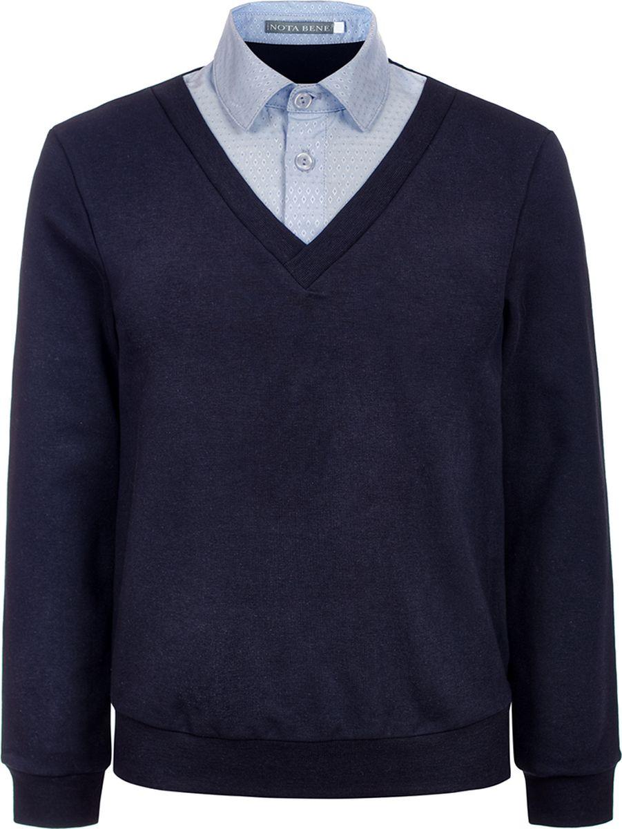 Джемпер для мальчика Nota Bene, цвет: темно-синий. 181140306_29. Размер 164