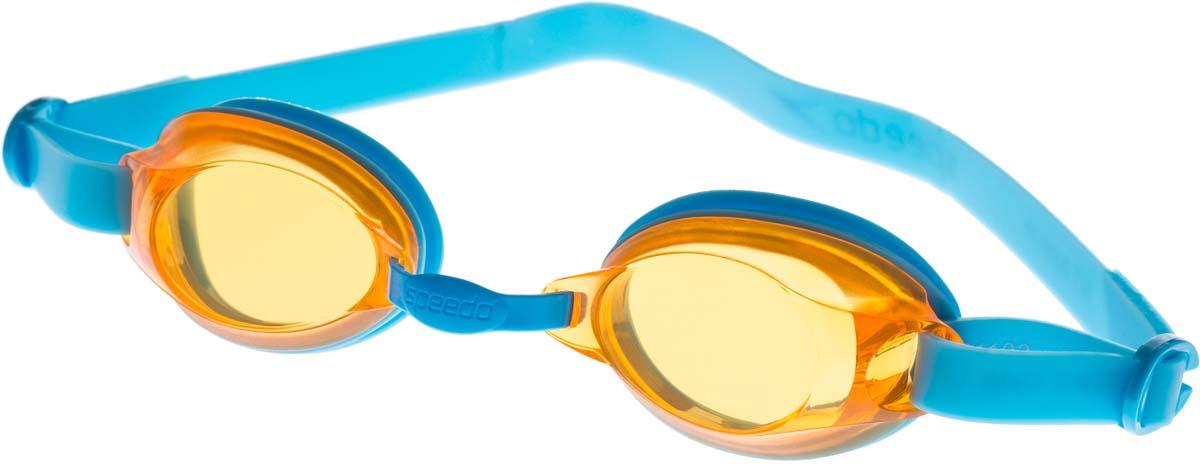 Очки для плавания детские Speedo, цвет: голубой, желтый speedo очки для плавания детские speedo jet