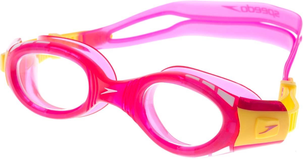 Очки для плавания детские Speedo, цвет: розовый, желтый speedo очки для плавания детские speedo jet
