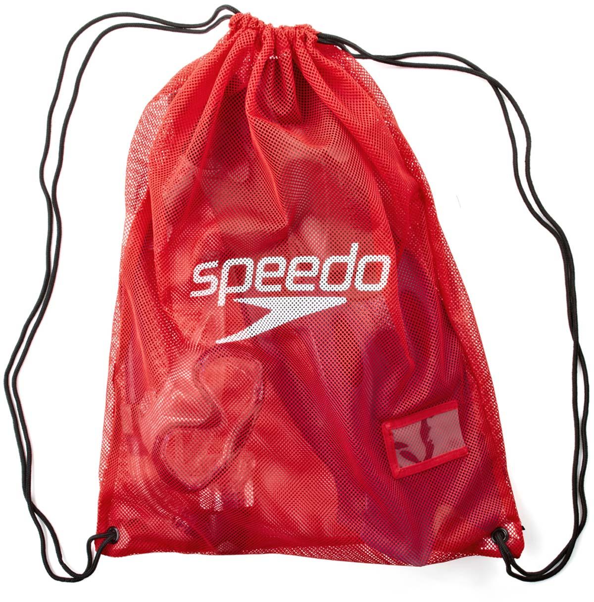 Мешок для мокрых вещей Speedo, цвет: красный8-074076446Легкий и водонепроницаемый мешок идеально подходит для хранения очков, шапочки и других личных вещей во время посещения бассейна.
