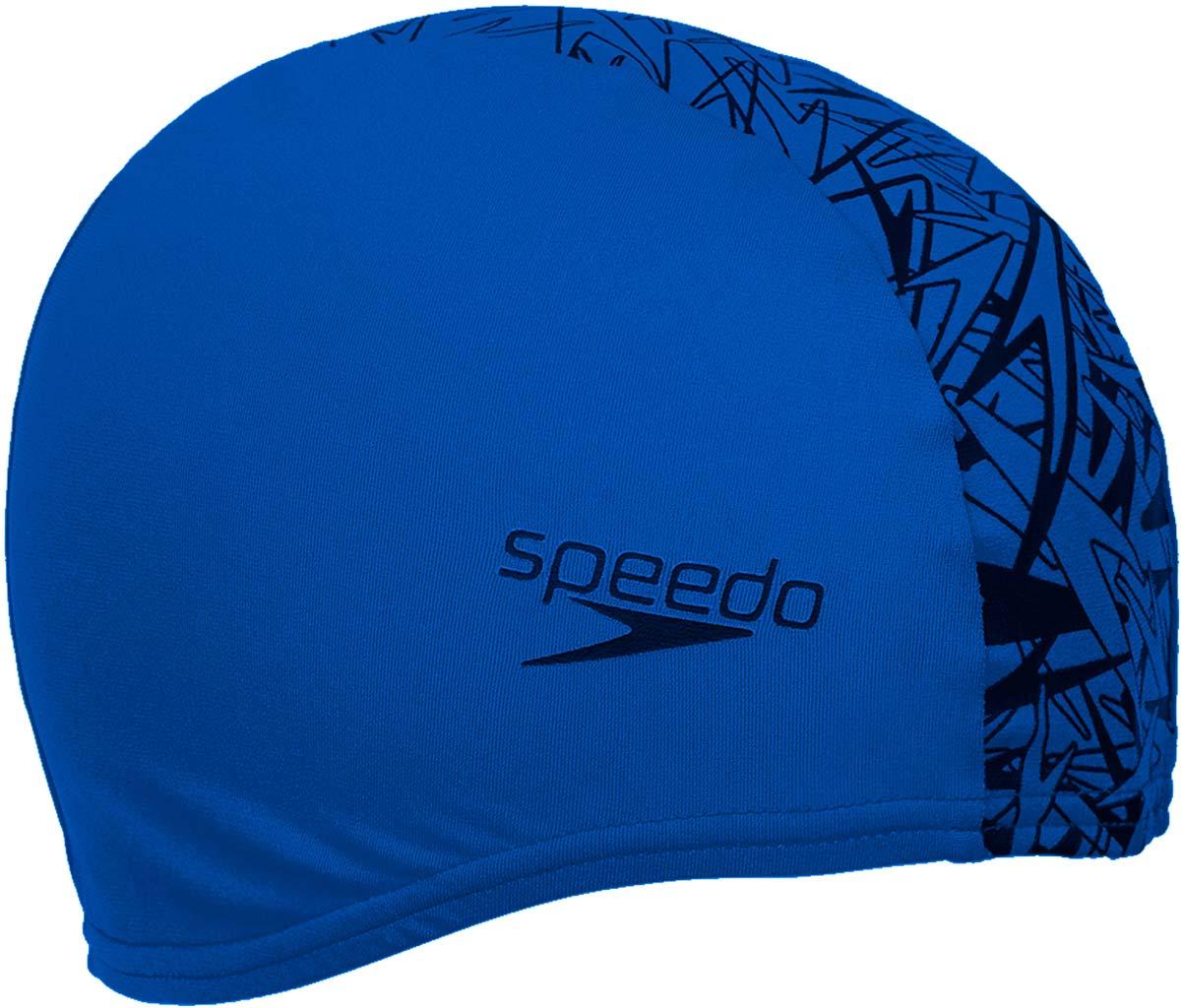 Шапочка для плавания Speedo, цвет: синий, черный