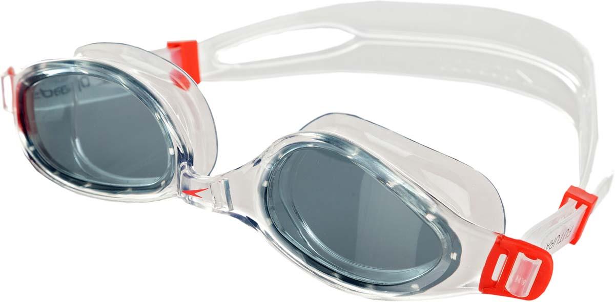 Очки для плавания Speedo, цвет: красный, серый. 8-0900935578-090093557Классические очки с двойным ремешком для тренировок в бассейне. Линзы c противозапотевающим компонентом AntiFog обеспечивают отличный обзор и видимость.