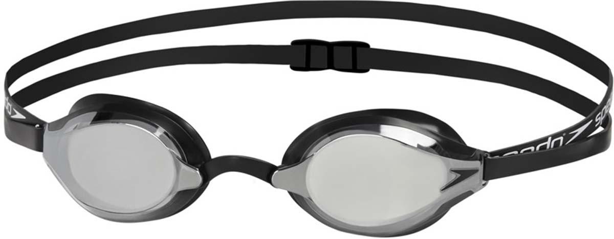 Очки для плавания Speedo Fastskin Speedsocket 2 Mirror, цвет: черный, зеркальный speedo speedo mariner mirror