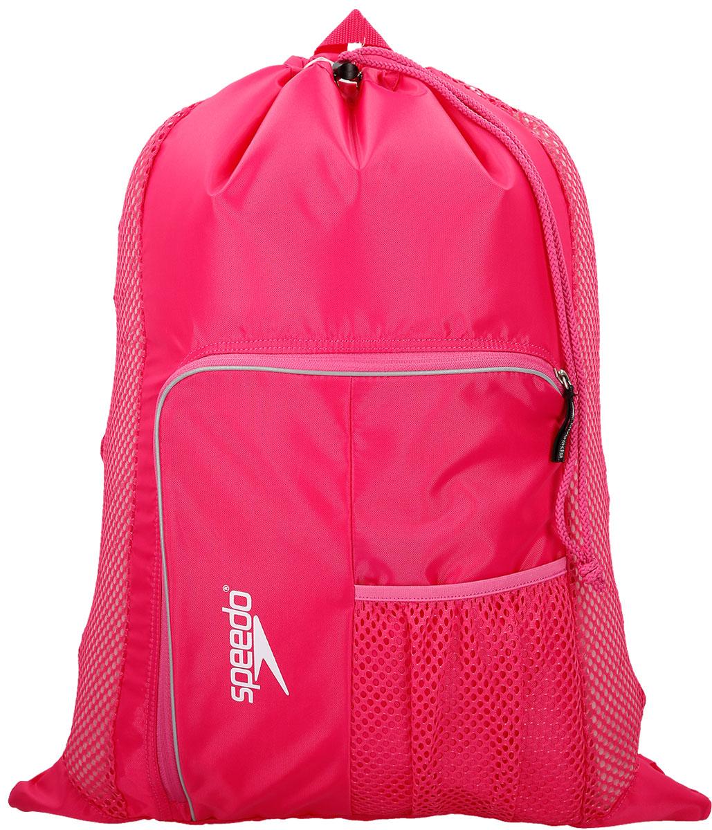 Мешок для мокрых вещей Speedo, цвет: розовый8-112341341Практичная и вместительная сумка-мешок идеально подходит для хранения вещей во время посещения бассейна. Использование сетки в качестве материала обеспечивает прекрасную вентиляцию и позволяет вещам быстро сохнуть.