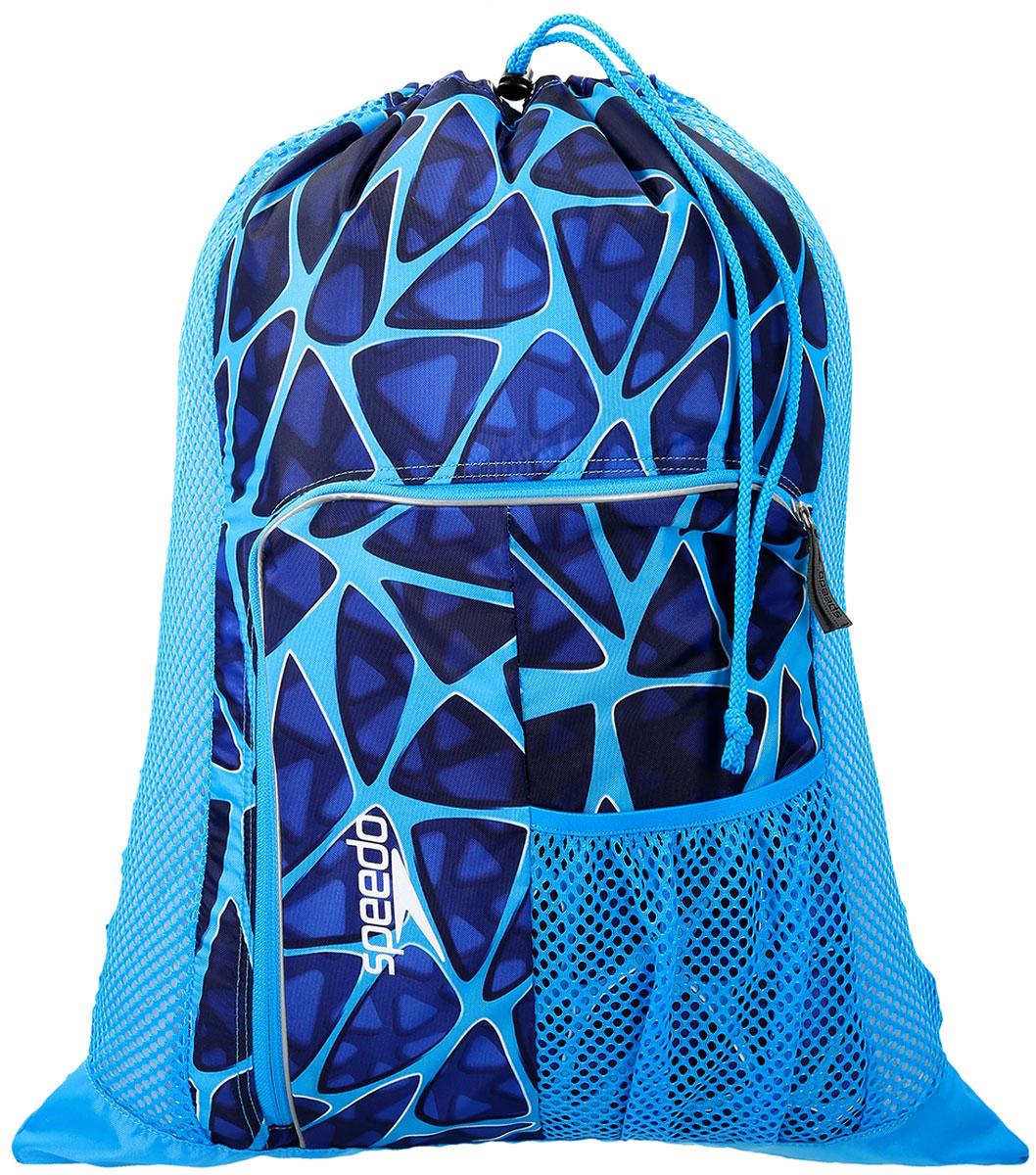Мешок для мокрых вещей Speedo, цвет: голубой, синий8-11234C298Практичная и вместительная сумка-мешок идеально подходит для хранения вещей во время посещения бассейна. Использование сетки в качестве материала обеспечивает прекрасную вентиляцию и позволяет вещам быстро сохнуть.