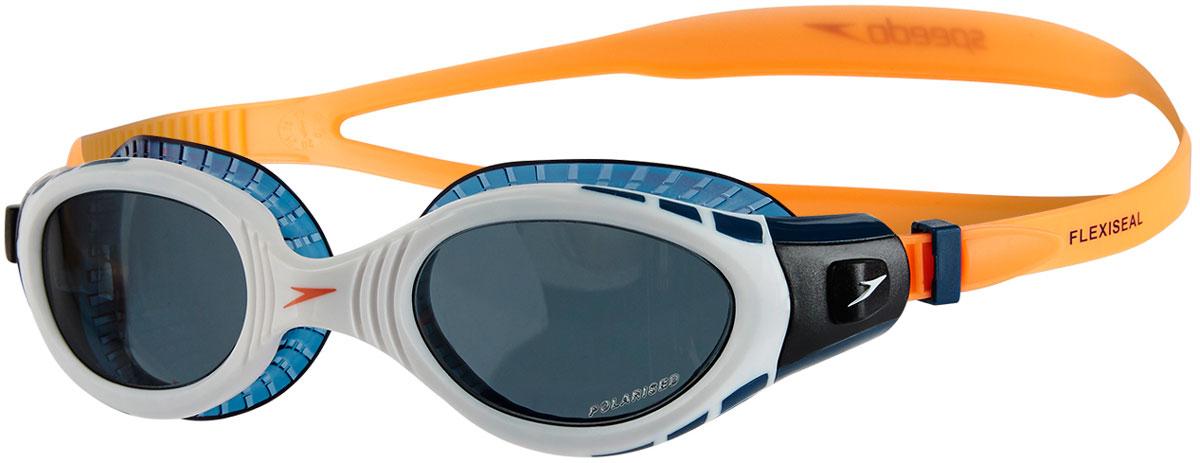 Очки для плавания Speedo Fut Biofuse Fseal Tri Au, цвет: оранжевый, белый, дымчатый8-11256B985Очки для плавания Speedo Fut Biofuse Fseal Tri Au с технологией Biofuse гарантирует еще больший комфорт во время плавания. Новый супер мягкий и более широкий уплотнитель обеспечивает комфорт вокруг глаз, уменьшает давление и минимизирует появление следов вокруг глаз после использования. Покрытие Antifog препятствует запотеванию линз. Удобный регулируемые ремешок. Очки созданы специально для триатлона, поэтому в модели используются линзы с широким периферийным обзором.