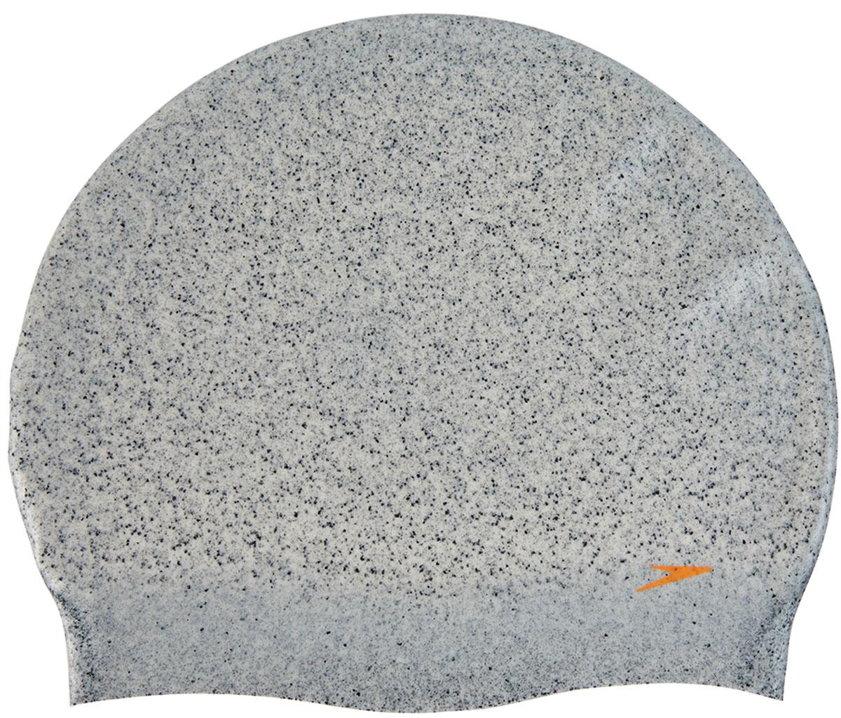 Шапочка для плавания Speedo, цвет: серый, оранжевый