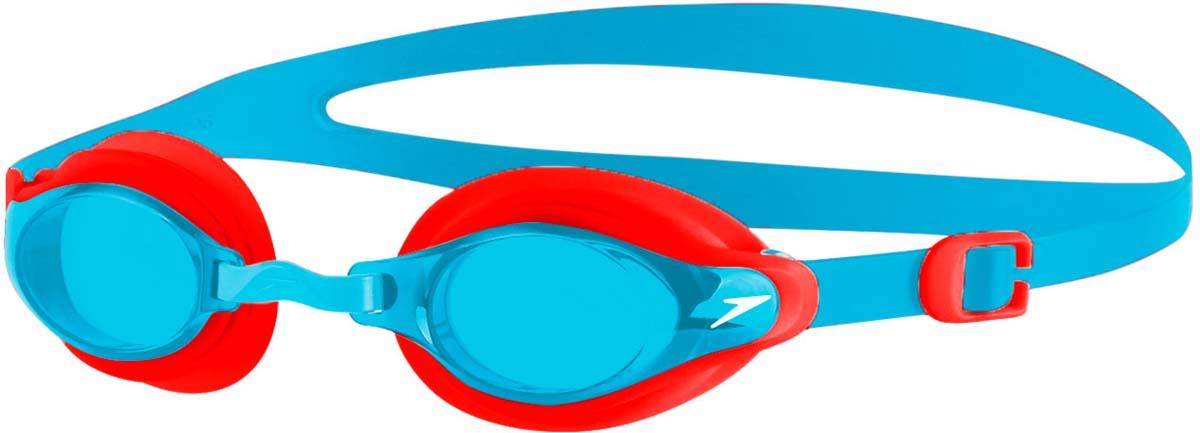 Очки для плавания детские Speedo Mariner Supreme Gog Ju, цвет: голубой, красный speedo очки для плавания детские speedo jet