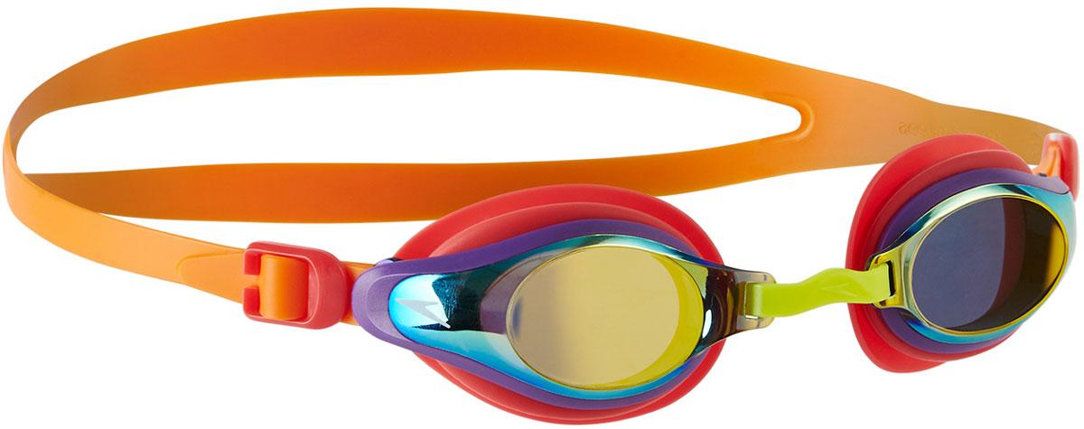 Очки для плавания детские Speedo Mariner Supreme Mir Gog Ju, цвет: оранжевый, фиолетовый, золотой speedo speedo mariner mirror