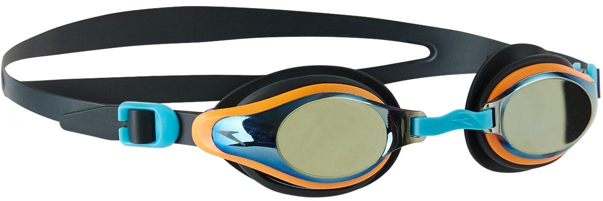 Очки для плавания детские Speedo Mariner Supreme Mir Gog Ju, цвет: темно-серый, оранжевый, серебряный speedo speedo mariner mirror
