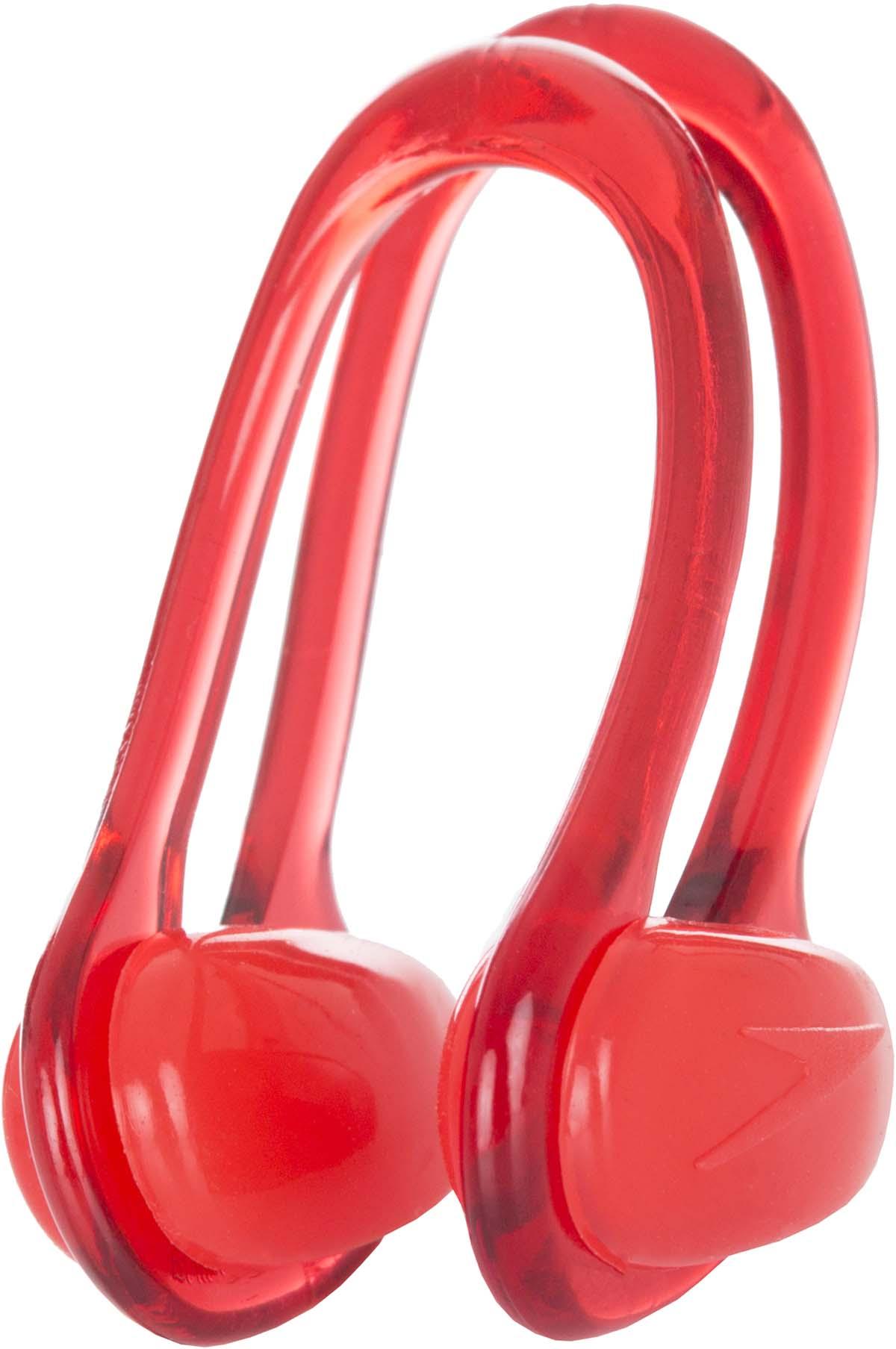 Зажим для носа Speedo, цвет: красный8-708127634Зажим для носа от Speedo незаменим во время тренировок в бассейне. Гибкаярамка настраивается в соответствии с индивидуальным строением лица.Мягкие силиконовые подушечки обеспечивают максимальный комфорт. Вкомплекте с зажимом идет удобный многоразовый футляр.