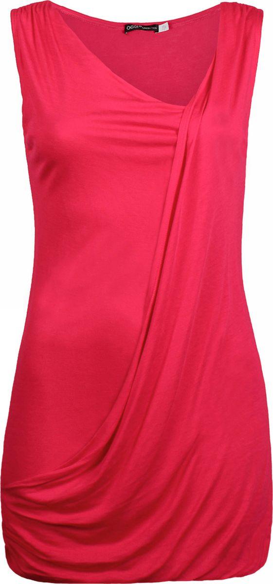 Туника женская oodji Collection, цвет: красный. 21305069/10604/06. Размер 44-164