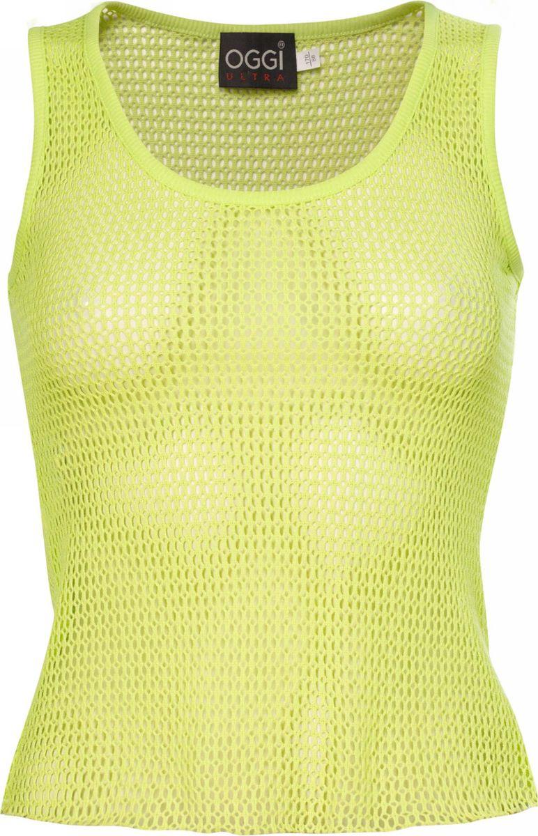 Блузка женская oodji Ultra, цвет: светло-зеленый. 11305075M/20011/6000N. Размер 46-170