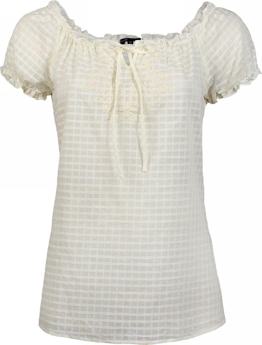 Блузка женская oodji Collection, цвет: кремовый. 21400275/18098/3000N. Размер 38 (44-170) ремни oodji ремень