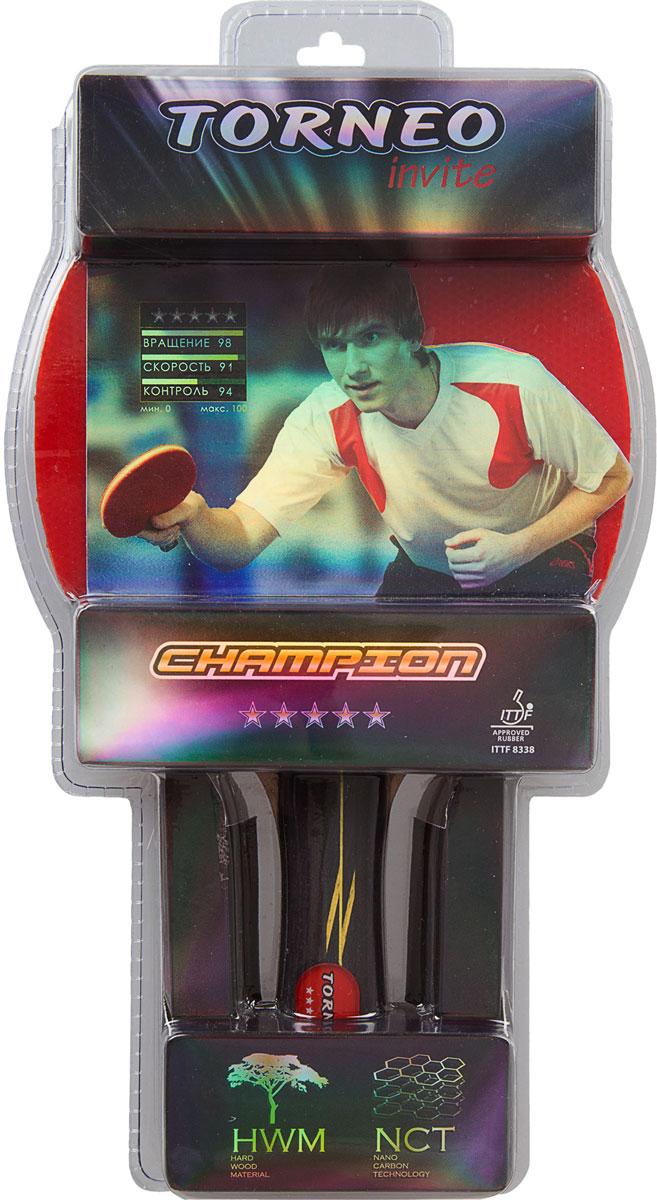 Ракетка для настольного тенниса Torneo Champion, с вогнутой формой рукоятки
