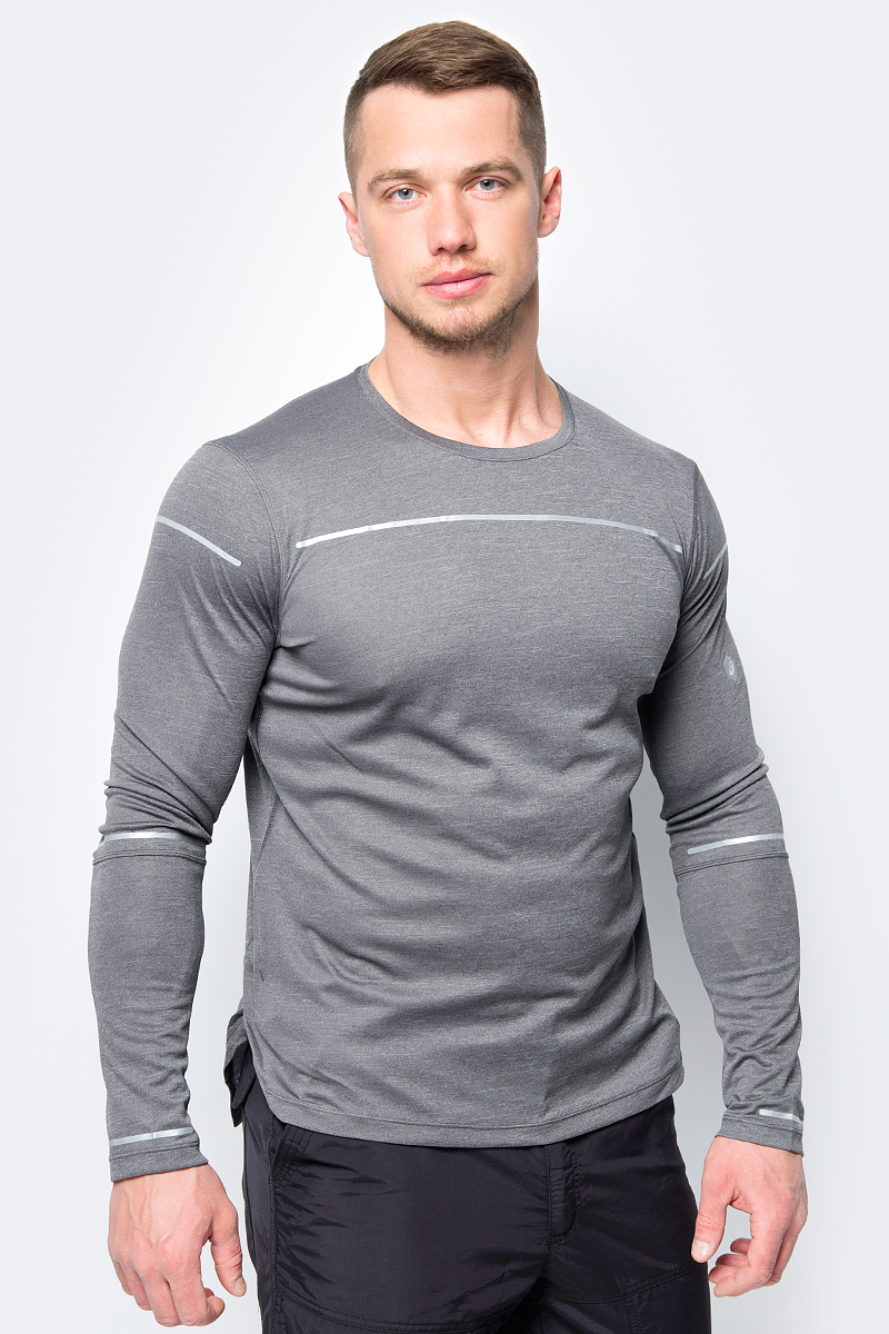цена на Лонгслив мужской Asics Lite-Show Ls Top, цвет: темно-серый. 154232-0779. Размер M (46)