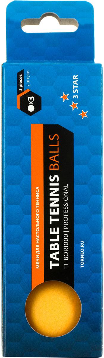 Набор мячей для настольного тенниса Torneo, 3 шт. TI-BOR1000