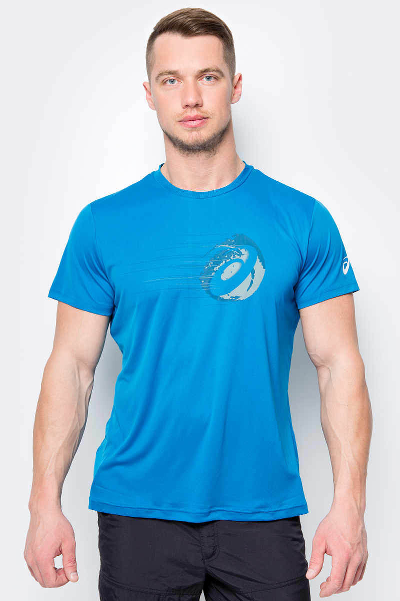 Футболка мужская Asics Gpx Ss Top, цвет: синий. 154412-8095. Размер XXL (52)
