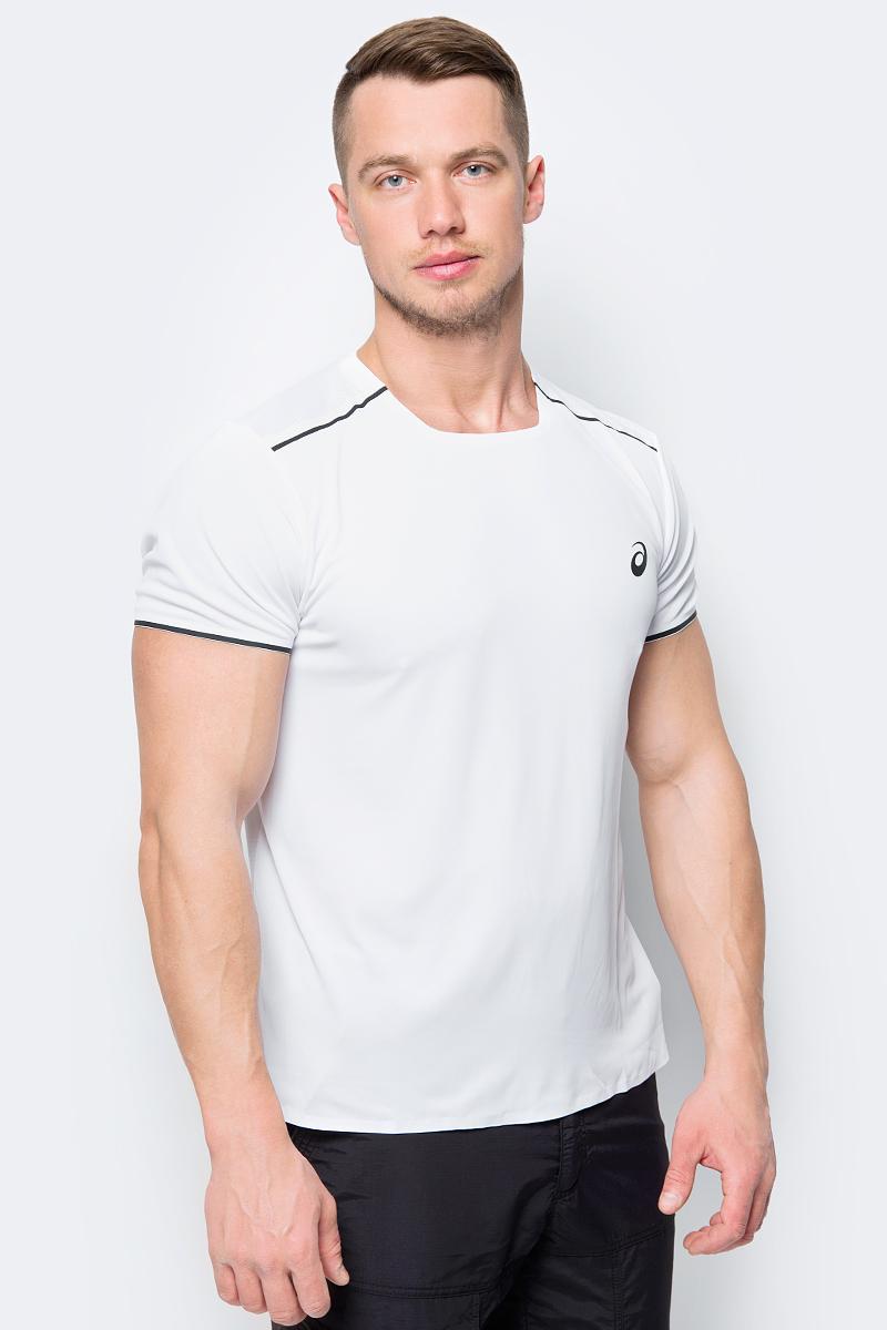 Футболка мужская Asics Gel-Cool Ss Top, цвет: белый. 154401-0014. Размер XXL (52)