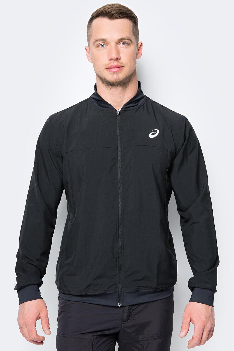 Олимпийка мужская Asics Jacket, цвет: черный. 154410-0904. Размер XXL (52) куртка мужская asics softshell jacket цвет черный 146589 8154 размер xxl 56