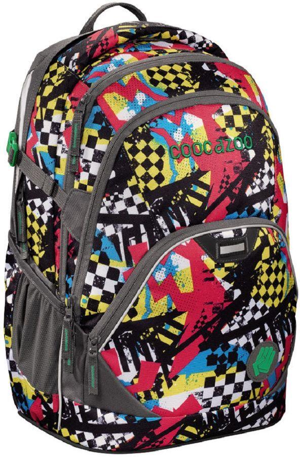 Coocazoo Рюкзак EvverClevver2 Checkered Bolts1047540Модный подростковый рюкзак для школы, отдыха и спорта. Оснащен мягкой спинкой для удобства ношения. Два больших основных отделения. Боковые карманы из прочной сетки. Просторный передний карман на молнии. Секретный кармашек на спинке. Усиленный поясной ремень, с возможностью регулировки высоты. Пригоден для переноски ноутбуков с диагональю до 15,6 дюйма. Светоотражающие материалы по периметру рюкзака.