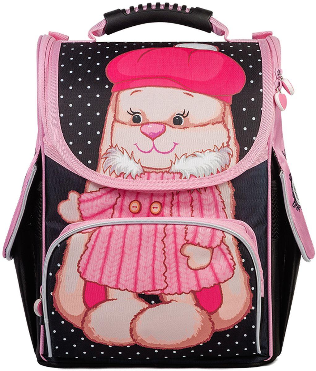 Maxitoys Рюкзак Зайка Лин в шубкеJL-102017-1Школьный рюкзак-ранец Зайка Лин в Шубке - отличный выбор для девочек, обучающихся в начальной школе. Яркий и красивый рисунок в виде очаровательной Зайки Лин в зимней шубке и розовой шапочке, резиновые пуллеры-сердечки обязательно понравятся вашему ребенку. Рюкзак состоит из одного основного вместительного отделения на молнии, оснащенного внутренним разделителем для учебников и тетрадей, одного внешнего кармана на молнии и двух боковых карманов, закрывающихся верхним клапаном с липучкой. Пластиковые ножки защитят дно от загрязнений. Жесткий каркас и усиленная спинка позволят максимально правильно распределить нагрузку на позвоночник ребенка. Светоотражающие элементы на переднем и боковых карманах, а также светоотражающий цветочек на лямках рюкзака обеспечат безопасность ребенка на дороге в темное время суток. Вместе с рюкзаком можно приобрести мешок для обуви Заяц Жак и Зайка Лин в Зимней Одежде JL-102017-3 с соответствующим рисунком. Размер рюкзака: 34 х 26 х 14 см. Вес: 0,93 кг. Состав: 100% полиэстер.