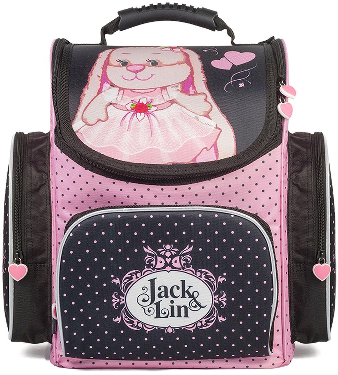 Maxitoys Рюкзак Зайка Лин в платьеJL-102017-4Школьный рюкзак-ранец Зайка Лин в платье - отличный выбор для девочек, обучающихся в начальной школе. Яркий и красивый рисунок в виде очаровательной Зайки Лин в розовом платье, резиновые пуллеры-сердечки обязательно понравятся вашему ребенку. Рюкзак состоит из одного основного вместительного отделения на молнии, оснащенного внутренним разделителем для учебников и тетрадей, одного внешнего кармана на молнии и двух боковых карманов на молнии. Пластиковые ножки защитят дно от загрязнений. Жесткий каркас и усиленная спинка позволят максимально правильно распределить нагрузку на позвоночник ребенка. Светоотражающие элементы на переднем и боковых карманах, а также светоотражающий принт - сердечки на лямках рюкзака обеспечат безопасность ребенка на дороге в темное время суток. Вместе с рюкзаком можно приобрести мешок для обуви Заяц Жак и Зайка Лин в Зимней Одежде JL-102017-3 с соответствующим рисунком. Размер рюкзака: 36 x 28 x 18 см. Вес: 1,12 кг. Состав: 100% полиэстер.