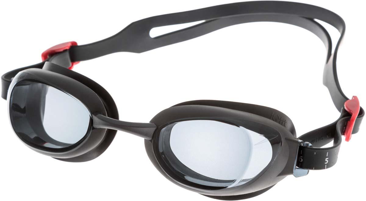 Очки для плавания Speedo, цвет: серый. -1,5 диоптрии8-095389722Стильные очки с технологией IQ FIT для оптимального комфорта. Специальная конструкция мягкого уплотнителя, учитывающего эргономику лица, минимизирует следы вокруг глаз после использования очков и обеспечивает плотное прилегание без протеканий воды. Конструкция очков предусматривает сменные носовые дужки для индивидуальной подстройки. AntiFog препятствует запотеванию линз. Дымчатые линзы уменьшают попадание света в глаза и снижают общую яркость без излишнего искажения цветов. Доступны линзы с разными диоптриями.