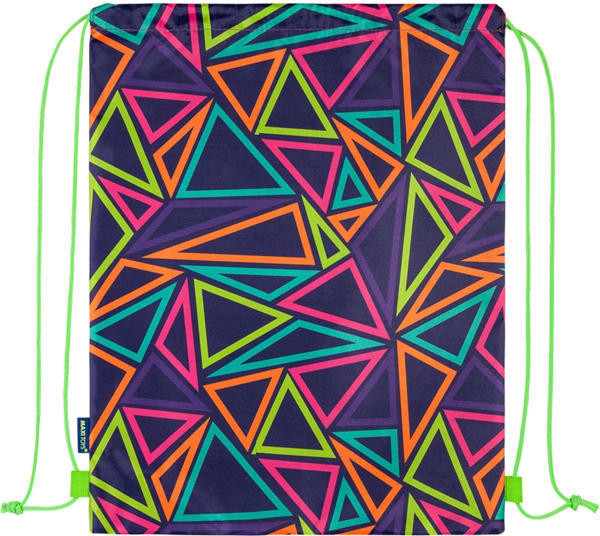 Maxitoys Мешок для обуви Разноцветные треугольники мешок для обуви феникс мото на синем 36 48см полиэстер 39981