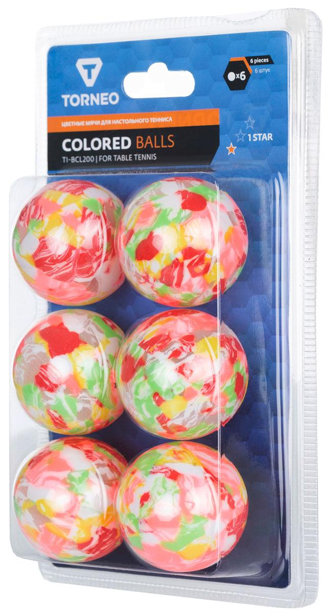 Набор мячей для настольного тенниса Torneo, 6 шт. TI-BCL200