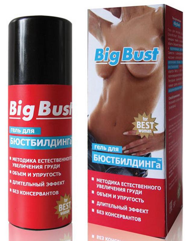 Биоритм Гель для увеличения груди BIG BUST, 50 г90004Красивая упругая грудь – теперь не мечта, а реальность. С помощью геля для массажа груди «Big Bust» и бюстбилдинга достичь совершенства будет просто. Бюстбилдинг (от слов «bust» и «buiding», т.е. дословно «построение груди») – это методика постепенного увеличения объема женской груди до желаемых размеров с помощью специального массажа, т.е. естественным образом, без хирургического вмешательства. Техника основана на том, что вокруг ткани молочной железы и между ее долями находится жировая ткань, и изменение ее объема существенно влияет на размер и форму груди. Гель «Big Bust» способствует образованию липидных тканей в желаемой области. Средство оказывает увлажняющее и подтягивающее действие. Особенная структура геля обеспечивает нежное и длительное скольжение во время выполнения специального массажа, а также предотвращает появление растяжек. В составе «Big Bust» только натуральные ингредиенты: Гиалуроновая кислота (компонент №1 для омоложения и регенерации мягких тканей) интенсивно увлажняет кожу груди.
