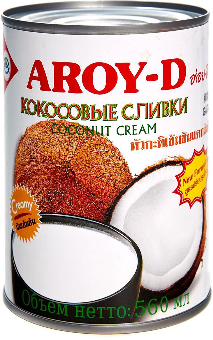 Aroy-d Кокосовые сливки 70% жирность 20-22%, 560 мл