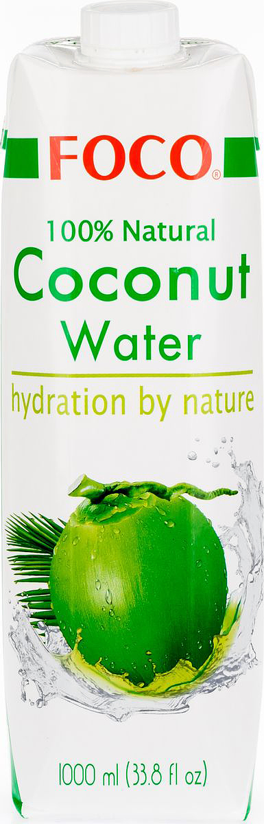 Foco Кокосовая вода натуральная, 1 л king island кокосовая вода без сахара 1 л