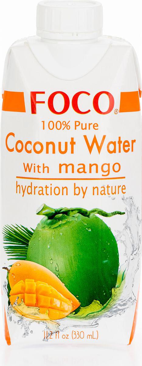 Foco Кокосовая вода с манго, 330 мл king island кокосовая вода без сахара 1 л