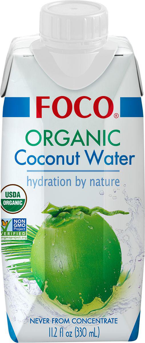 Foco Органическая кокосовая вода, 330 мл king island кокосовая вода без сахара 1 л