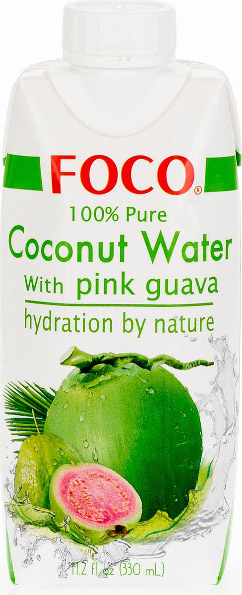 Foco Кокосовая вода с соком розовой гуавы, 330 мл king island кокосовая вода без сахара 1 л
