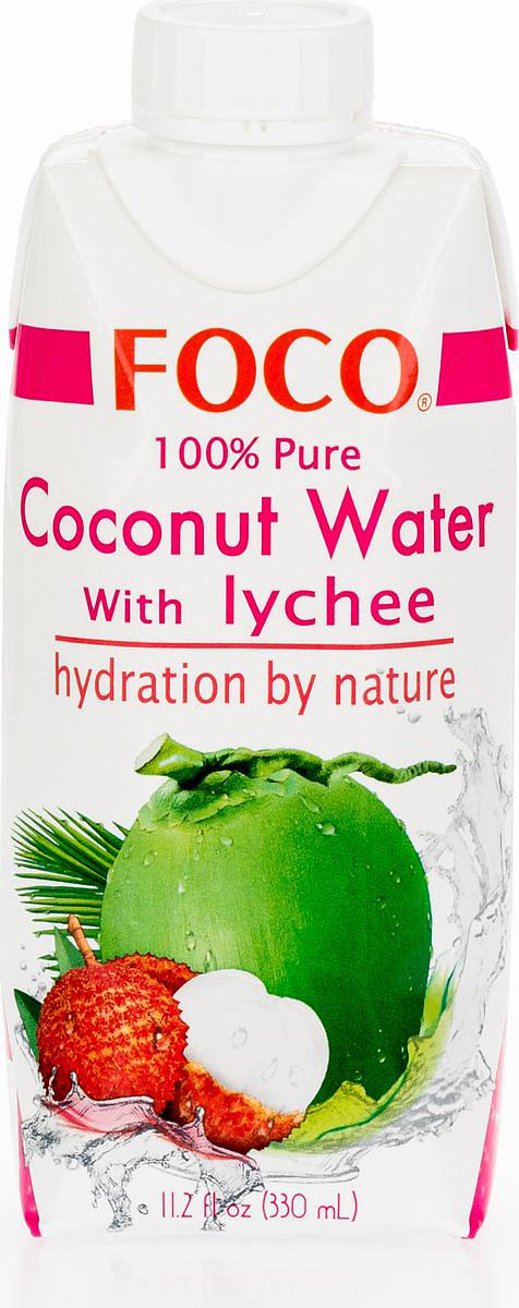 Foco Кокосовая вода с соком личи, 330 мл king island кокосовая вода без сахара 1 л