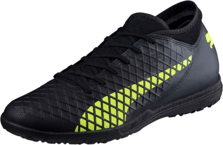 Бутсы мужские Puma Future 18.4 TT, цвет: черный. 10433902. Размер 10 (43,5)10433902Футбольные бутсы FUTURE 18.4 повторяют стиль и силуэт флагманской модели FUTURE 18.1 и при этом отличаются весьма привлекательной ценой. Мягкий и прочный синтетический материал верха делает эту обувь легкой, удобной и долговечной.