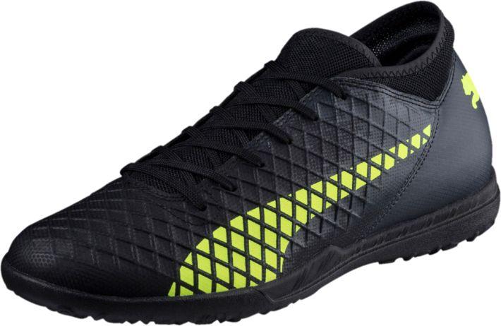 Бутсы мужские Puma Future 18.4 TT, цвет: черный. 10433902. Размер 7,5 (40)10433902Футбольные бутсы FUTURE 18.4 повторяют стиль и силуэт флагманской модели FUTURE 18.1 и при этом отличаются весьма привлекательной ценой. Мягкий и прочный синтетический материал верха делает эту обувь легкой, удобной и долговечной.