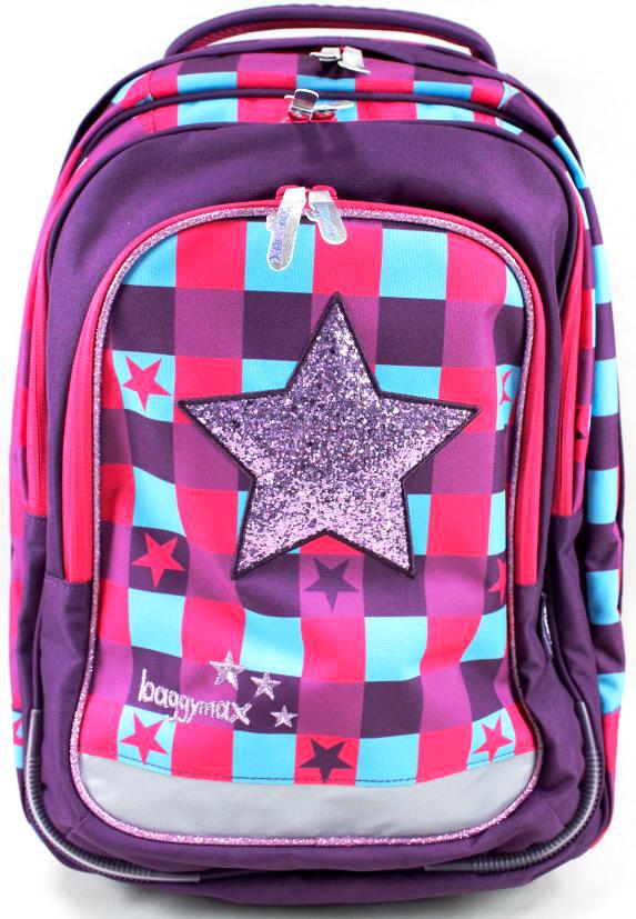 Step By Step Ранец школьный BaggyMax Trolley Pink Star1047692Модель «Trolley» - это вместительный рюкзак и троллей ( тележка) в одном. Благодаря выдвижной телескопической ручке и прочным колесам, даже самые тяжелые учебники легко переносить. Грязные колеса не испачкают вещи вашего ребенка, если он наденет рюкзак на спину, благодаря специальной тканевой водонепроницаемой накидке на резинке, закрывающей колеса. Большой объем основного отделения позволит вашему ребенку взять все необходимое для уроков и тренировок. Два передних кармана для принадлежностей. Вертикальную устойчивость придают встроенные в дно усиленные пластмассовые вставки, которые также защищают от повреждений. Мягкая, воздухопроницаемая и эргономичная спинка. Ручка для переноски. Светоотражающие элементы.