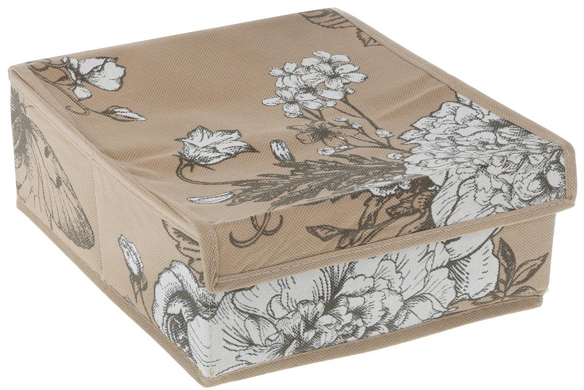 """Компактный складной кофр """"GFTC"""" изготовлен из нетканого материала, который обеспечивает естественную вентиляцию. Материал позволяет воздуху свободно проникать внутрь, но не пропускает пыль. Кофр отлично держит  форму, благодаря вставкам из плотного картона.  Изделие имеет 4 квадратные секции для хранения нижнего белья, колготок, носков и другой одежды.   Такой кофр позволит вам хранить вещи компактно и удобно, а оригинальный дизайн сделает вашу гардеробную красивой и невероятно стильной."""