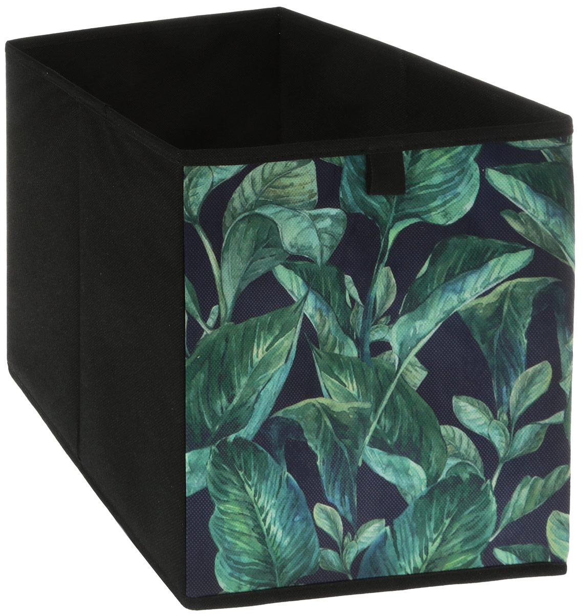Кофр для хранения вещей GFTC Сирень, складной, цвет: зеленый, черный, 28 х 28 х 28 см. FS-2001-A кофр складной для хранения 28 18 18 см мексика с 2 ручками 1252424