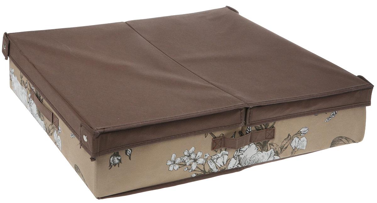 Кофр для хранения вещей GFTC, складной, цвет: бежевый, коричневый, 63 x 48 х 15 мм. FS-6304BFS-6304BКофр GFTC с жестким каркасом предназначен для хранения вещей. Благодаря специальным вставкам, кофр прекрасно держит форму, а эстетичный дизайн гармонично смотрится в любом интерьере. В нем можно хранить всевозможные предметы: книги, игрушки, рукоделие. Для удобства кофр имеет крышку и 2 ручки.