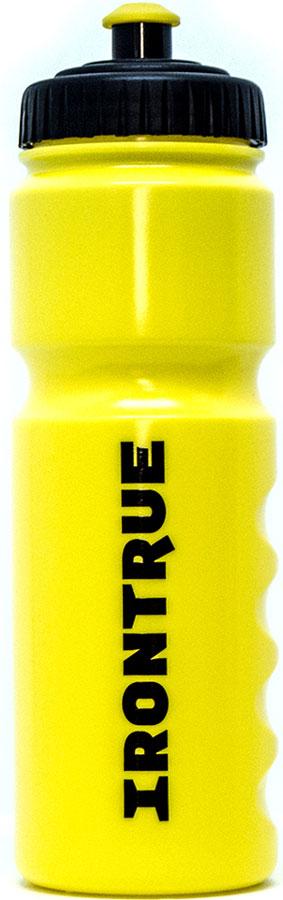 Бутылка спортивная Irontrue Classic Series, цвет: черный, желтый, 750 мл. ITB711-750 бутылка гантеля спортивная irontrue цвет желтый 2 2 л